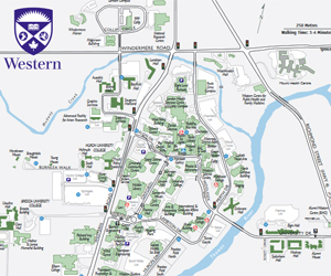 Western University Map Wayfinding and Parking   Faculty of Education   Western University