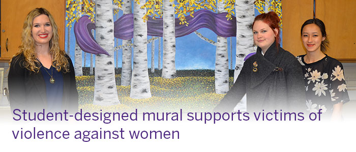 Student-designed mural supports victims of violence against women